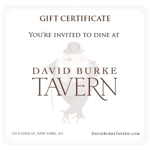 David Burke Tavern Gift Certificates