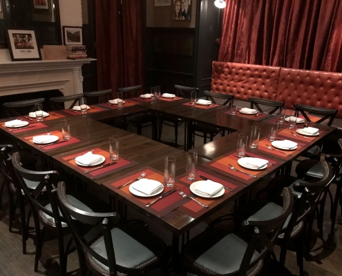North Private Dining Room set for a business lunch
