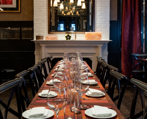 North Dining Room set for a Private Event