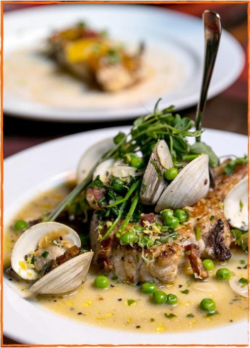 Pork shank and clams at David Burke Tavern