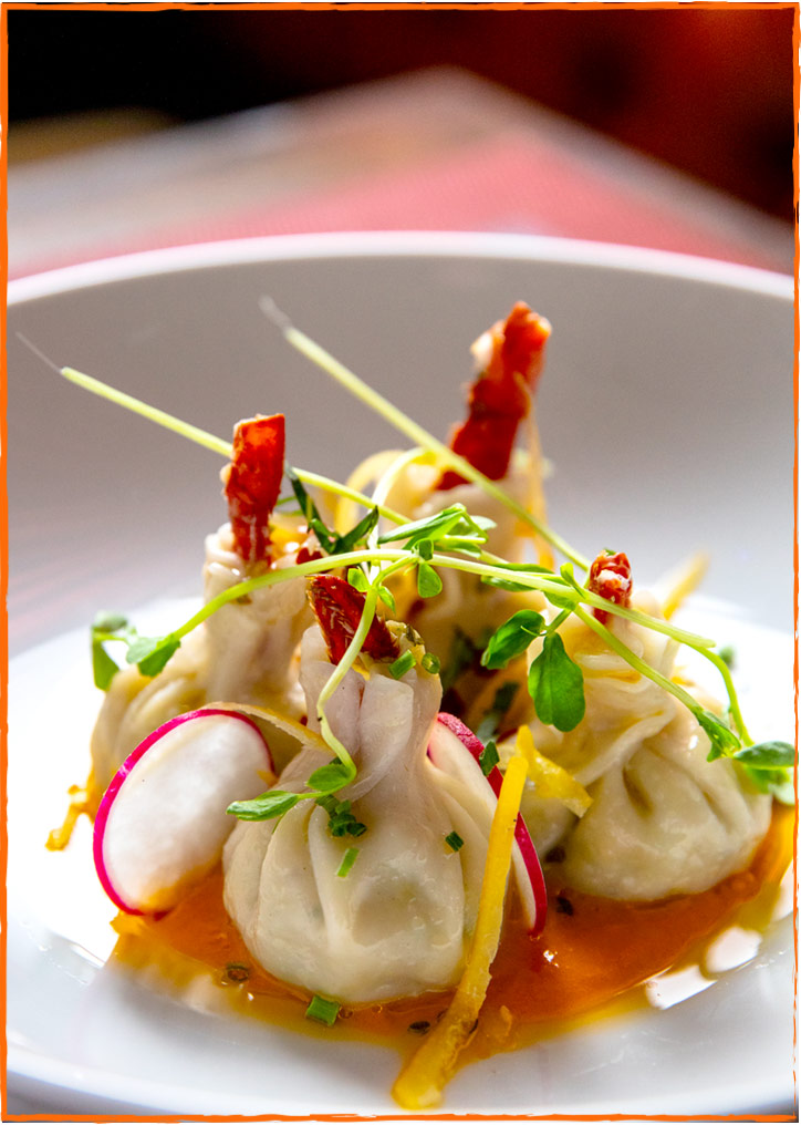 David Burke Tavern Steamed Angry Lobster Dumplings