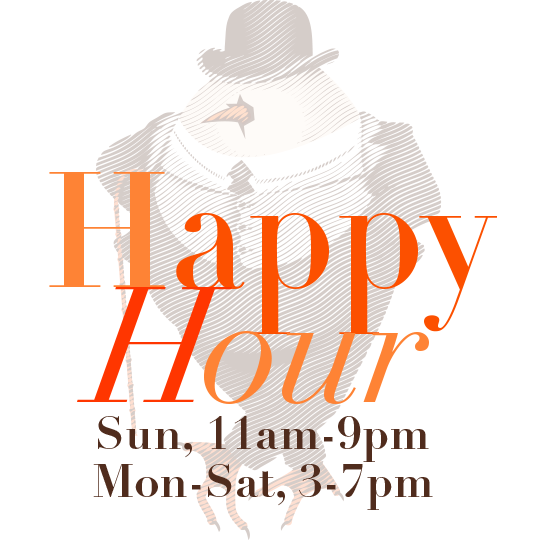David Burke Tavern Happy Hour - Sunday 11am - 9pm, Monday through Saturday 4 - 7pm