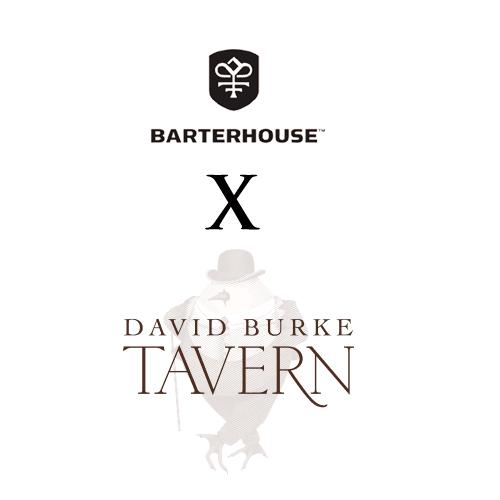 Logos for Barterhouse x David Burke Tavern Chef's Studio Wine Dinner on November 19th